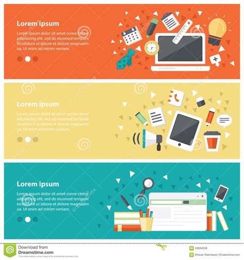design online training flat design concepts for online education online training