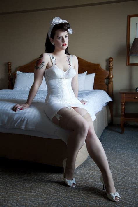 girdle and nylons vintage white open bottom girdle and bullet bra girdles