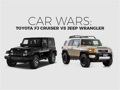 Jeep Vs Fj Cruiser by Toyota Fj Cruiser Jeep Wrangler Suv Car Wars Car