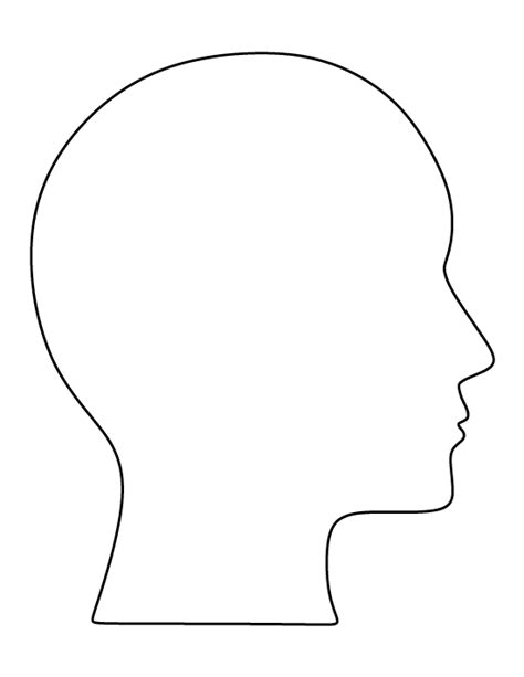 printable human head template