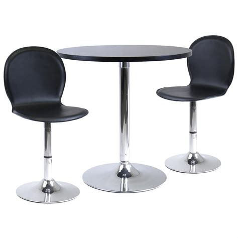 dining table with swivel chairs winsome 174 spectrum dining table with 2 swivel dining chairs