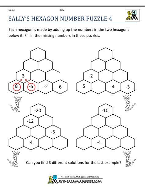 printable number logic puzzles free math puzzles 4th grade