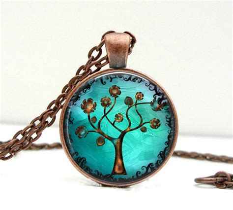 Handmade Jewelry Artist - copper tree necklace pendant charms picture