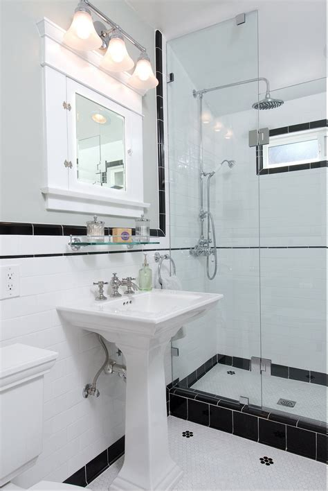 vintage bathroom remodel ideas vintage black and white ny bathroom bathrooms pinterest