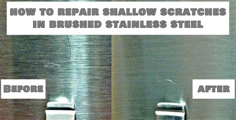 how to remove scratches from brushed stainless steel sink fix lovely how to repair shallow scratches in brushed
