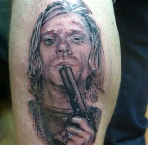 kurt cobain tattoo kurt cobain by chris hornsby tattoos by chris