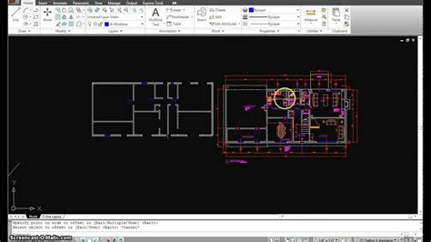 autocad tutorial floor plan autocad tutorial 15 first floor plan part 2 mp4 youtube