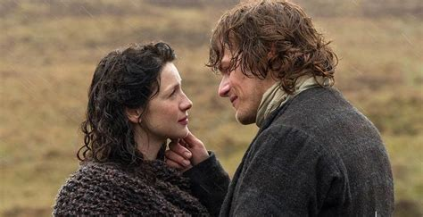 outlander season 3 jamie and claire s reunion great says caitriona balfe