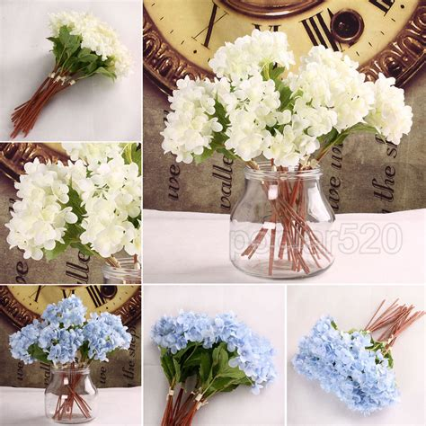 home floral decor hydrangea silk flowers artificial home party wedding