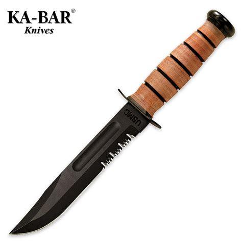 kbar usmc kabar usmc serrated knife with sheath