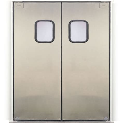 commercial kitchen double swing door eliason scp 3 60dbl 60 quot double door opening easy swing