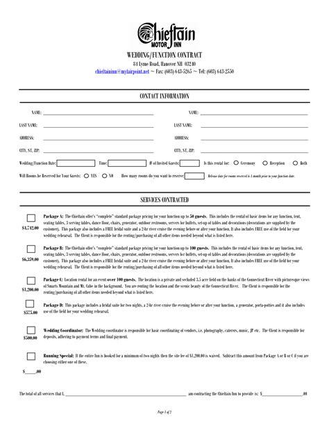Wedding planner contract template photo jilt the wedding design