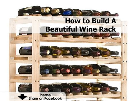 How To Make A Wine Rack In A Kitchen Cabinet | how to build a beautiful wine rack