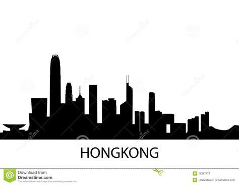 skyline hongkong stock illustration image of background 16317177