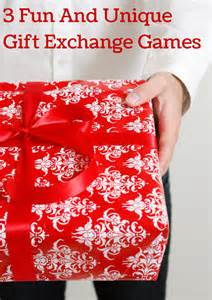 Gift exchange games are perfect to change things up at your holiday