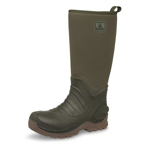 rubber boots hunting kamik huntsman waterproof insulated rubber hunting boots