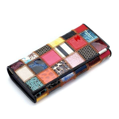 Patchwork Wallet - aliexpress buy selling genuine leather wallet