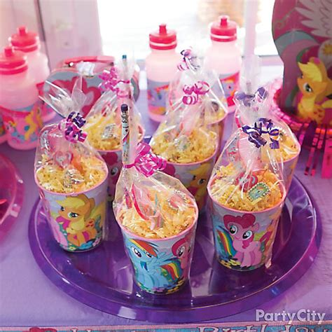 pony parties make a great birthday treat for kids my little pony favor cup idea party city