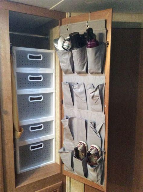 Stack A Shelf Closet Rod Best 25 Rv Organization Ideas On Trailer