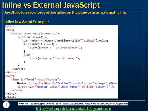tutorial javascript external sql server net and c video tutorial inline vs external