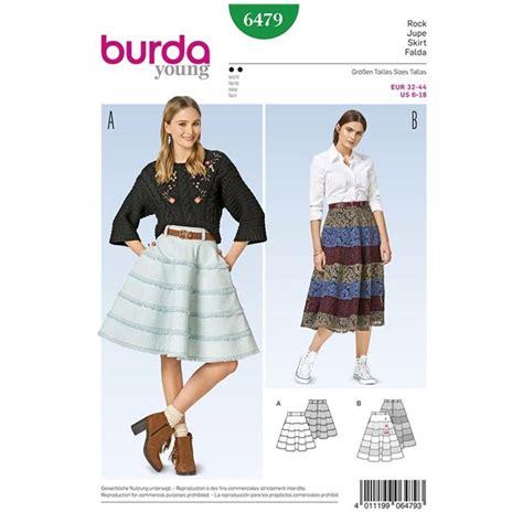 skirt pattern burda skirt burda young sewing pattern n 176 6479 ma petite mercerie
