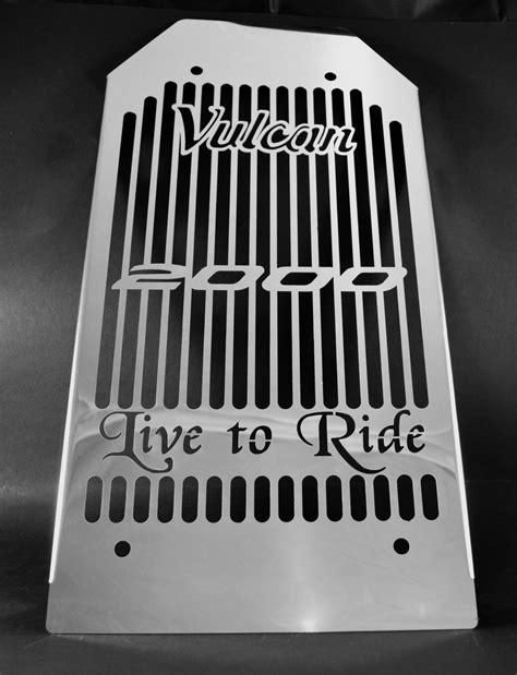 Cover Radiator Stainless Vixion kawasaki vn 2000 vulcan classic 04 10 stainless steel radiator cover grill ebay