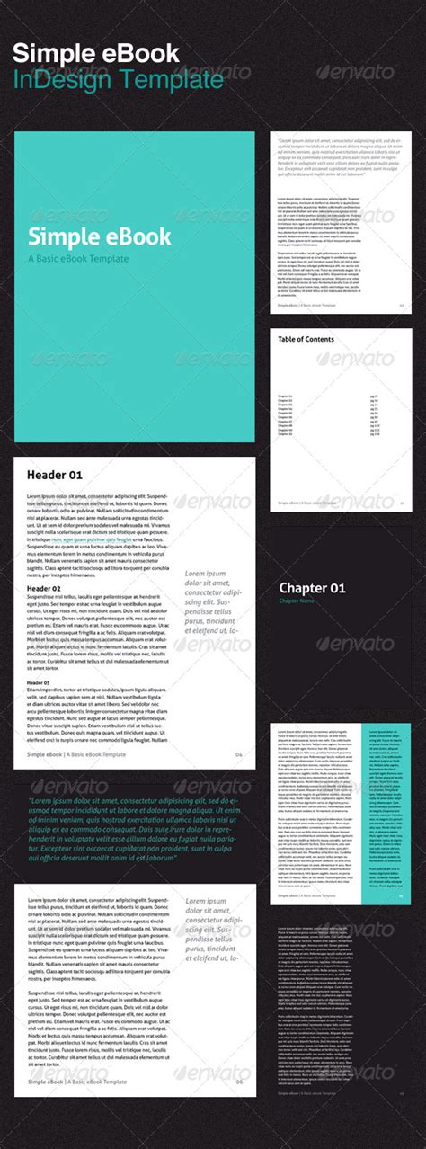 Simple Ebook Template Graphicriver Free Ebook Template Indesign