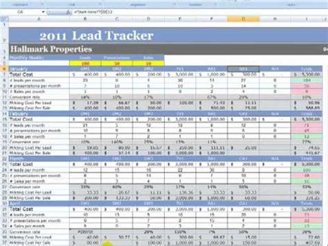 Marketing And Lead Tracker Demo Mp4 Youtube Lead Tracking Excel Template