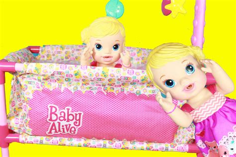 baby alive bed baby alive doll new pack n play crib doll furniture youtube