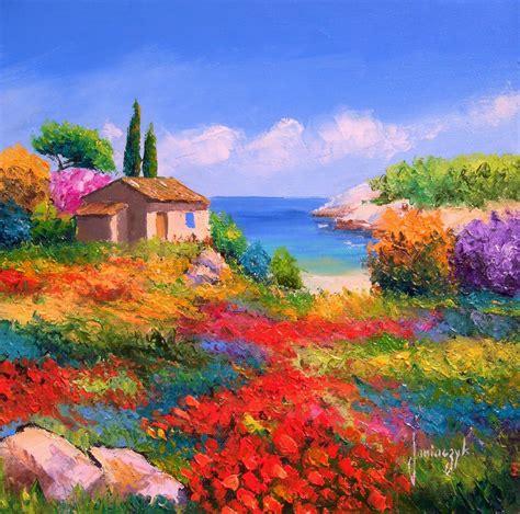imagenes de paisajes modernos cuadros pinturas oleos flores y paisajes con esp 225 tula 211 leo