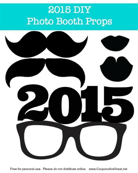 happy new year photo booth props printable 16 best diy photo booth prop templates images on pinterest