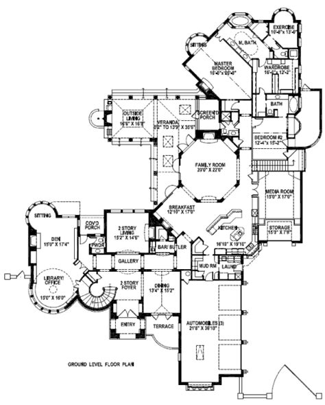 tudor style house plan 5 beds 6 5 baths 7632 sq ft plan