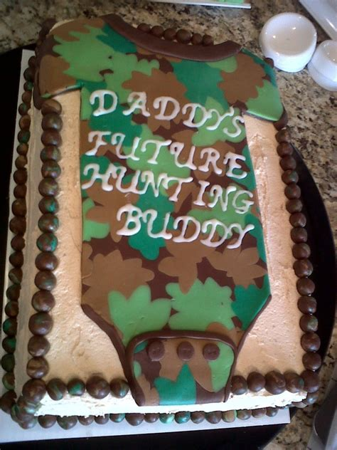 Baby Shower Cakes Camo camo onesie baby shower cake cakecentral