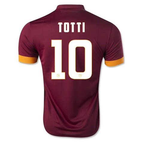 Jersey As Roma Home 3 as roma 14 15 totti 10 home soccer jersey roma