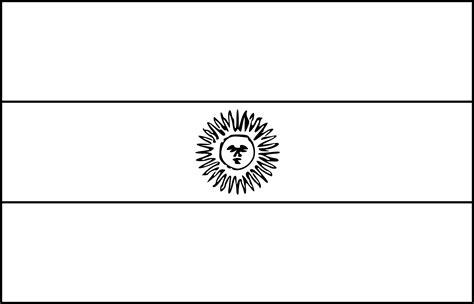 Coloriage Drapeau Argentine 224 Imprimer