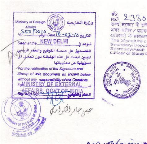 Indian Embassy Document Attestation