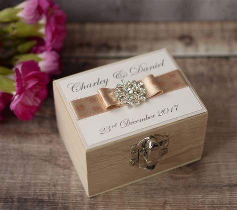 Wedding Ring Box Uk by Personalised Wedding Ring Box Creative Bridal