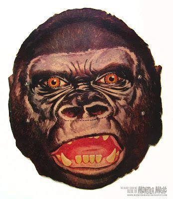 printable vintage masks free vintage donkey kong gorilla cut out printable mask