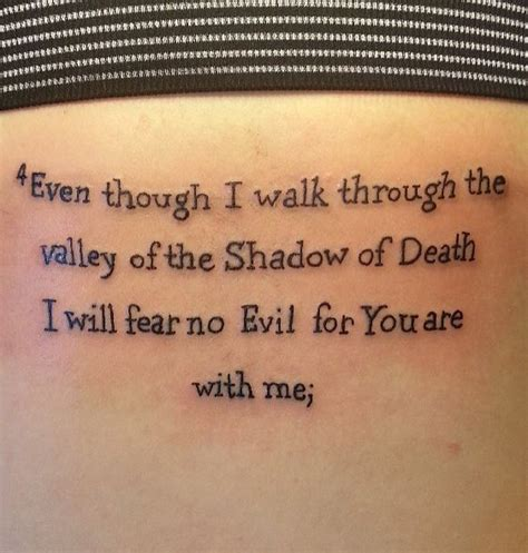 yea though i walk through the valley tattoo even though i walk through the valley of the shadow of