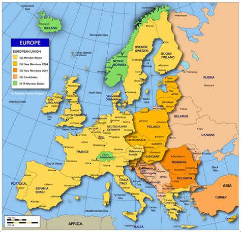 map of europe countries in marble february 2012