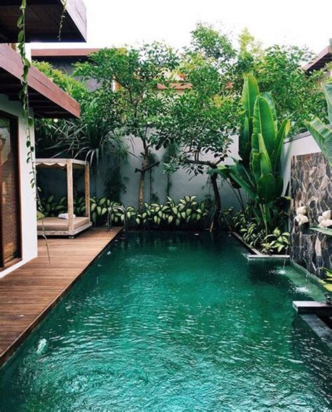 outdoor narrow pools  limited spaces home design