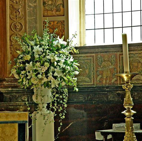 Church Flower Arrangements Pedestal Church Pedestal Arrangement Delphinium Liiles Roses