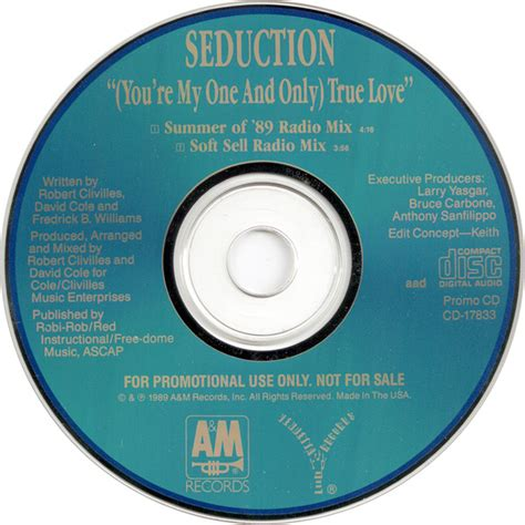 Format Cd Music | seduction you re my one and only true love cd at discogs