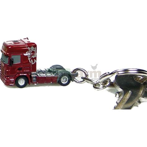 universal hobbies 5537 scania r580 burgundy keyring