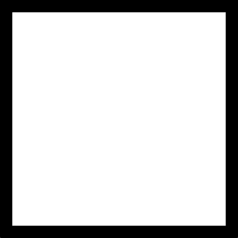 Outlined Box by Square Outline Square Square Shape Box Shapes Box Outline Icon
