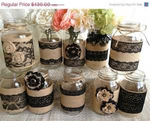 burlap wedding decorations for sale 3 day sale 10x rustic burlap and black lace covered