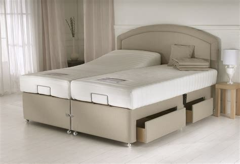 adjustable beds beige adjustable bed frame with cruved headboard having
