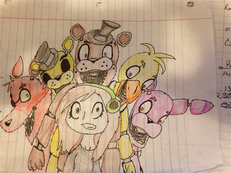Fnaf 1 Sketches by And This Is My 1st Fnaf Drawing Im Redoingi T By