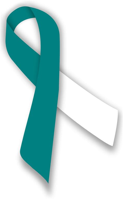 cervical cancer ribbon color file tealandwhiteribbon svg wikimedia commons