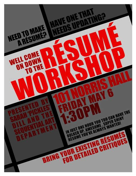 resume workshop flyer pr advertising signage other